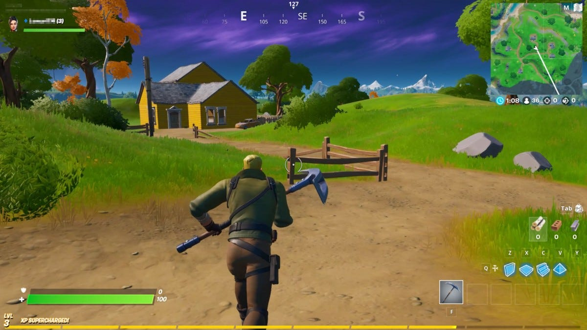 Fortnite running on GeForce NOW