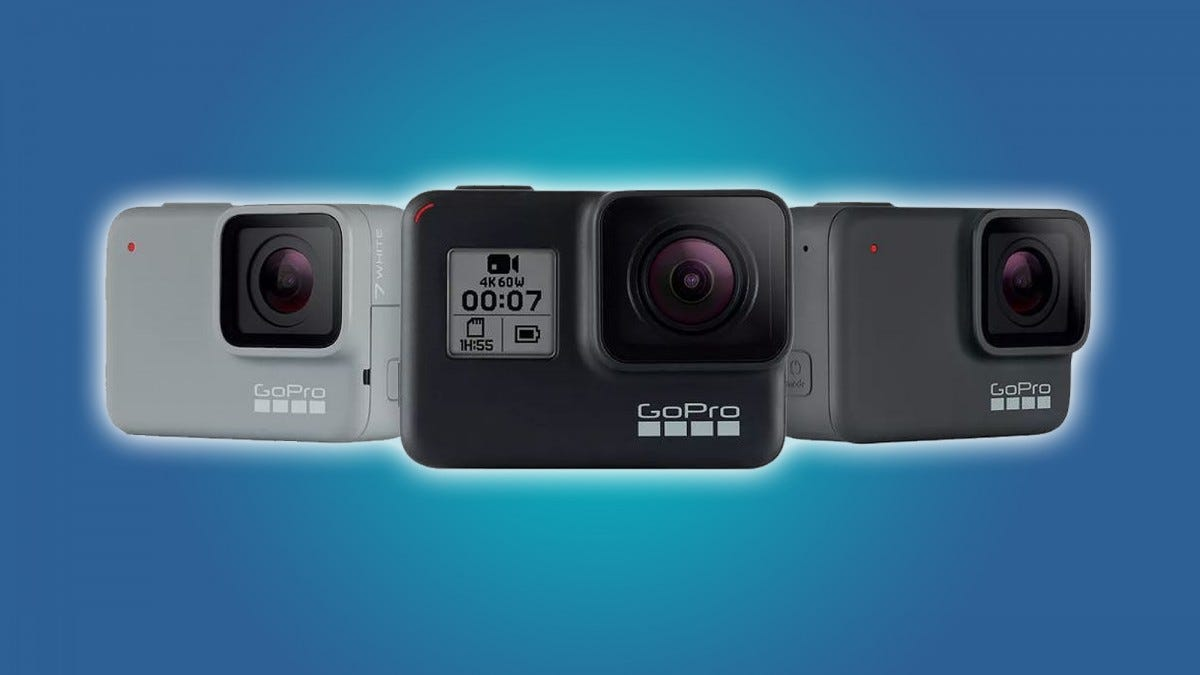 Three GoPro cameras. Article header image.