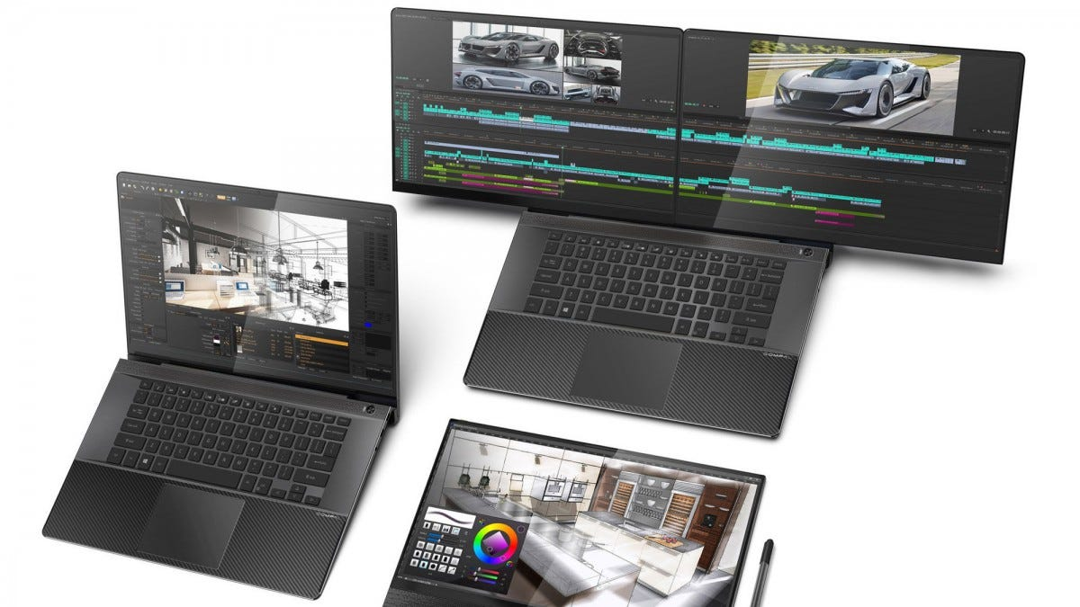 The Compal FullVision concept laptop.