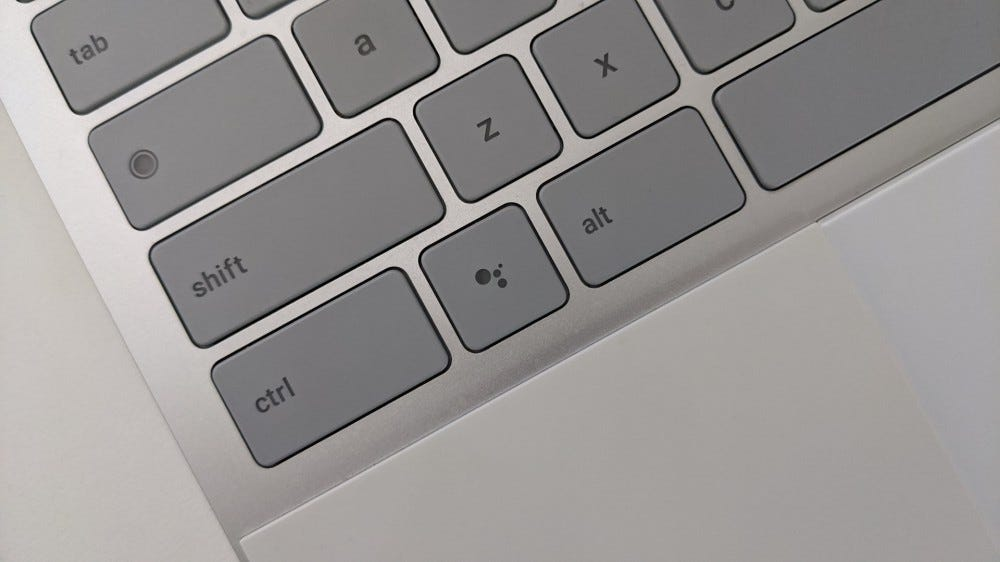 The Google Assistant key on the Pixelbook