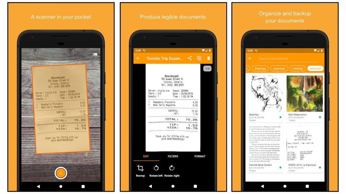 Genius Scan app screenshots