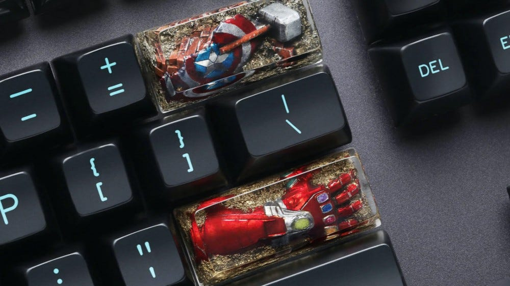 Marvel keycaps from Drop.com