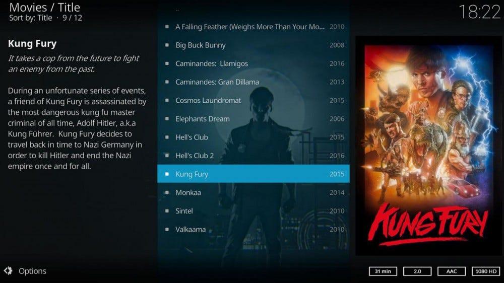 Kodi interface