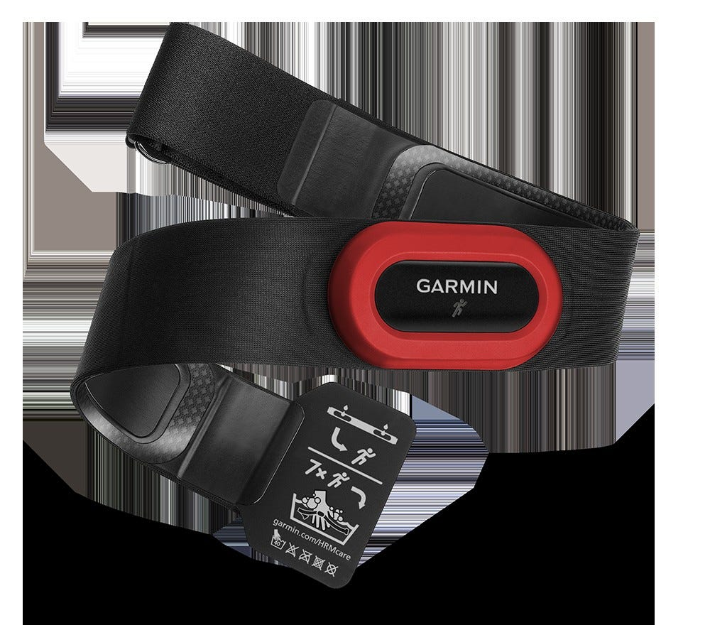 the Garmin HRM-Run chest HR tracker