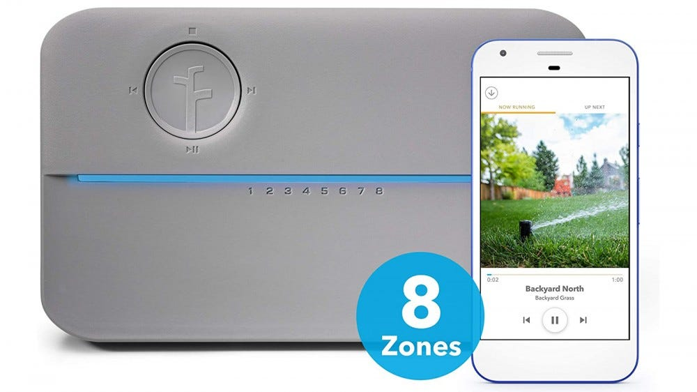 Rachio 8ZULWC-L 8 Zone smart sprinkler controller for Father's Day 2020 best smart sprinkler scheduling conserve water