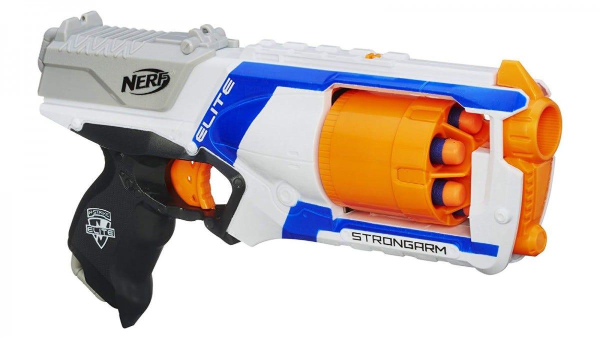The Nerf N Strike Elite Strongarm Toy Blaster.