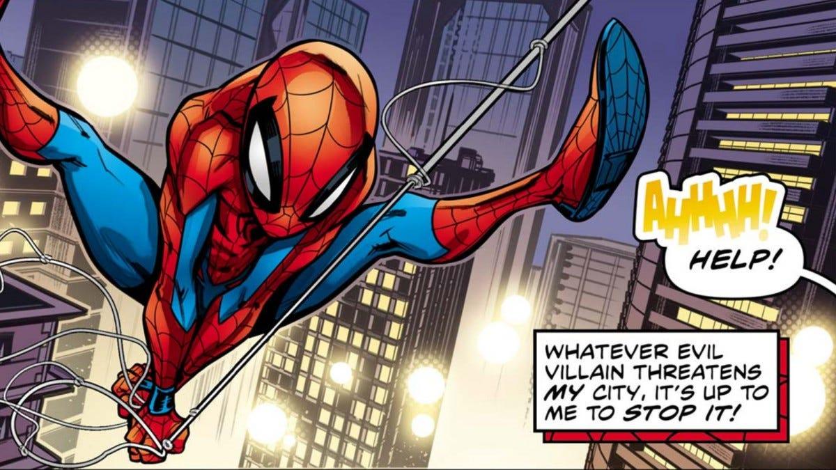 Spider-man comic art