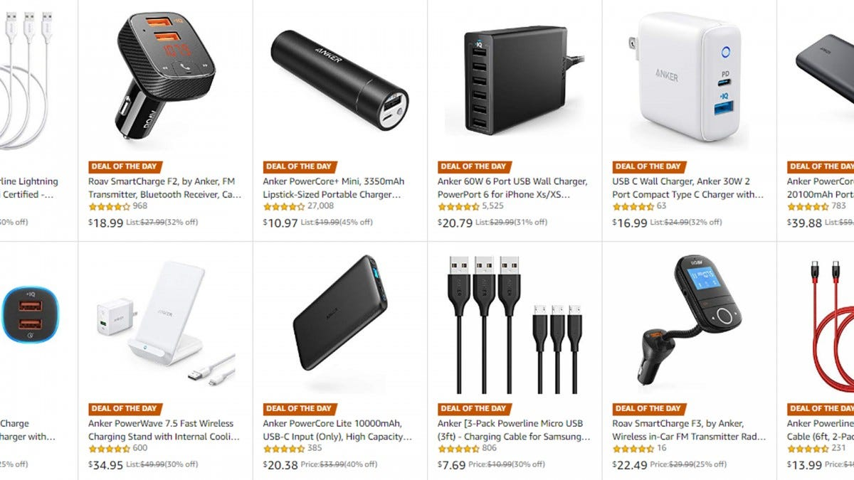 A screenshot of Amazon's Anker page