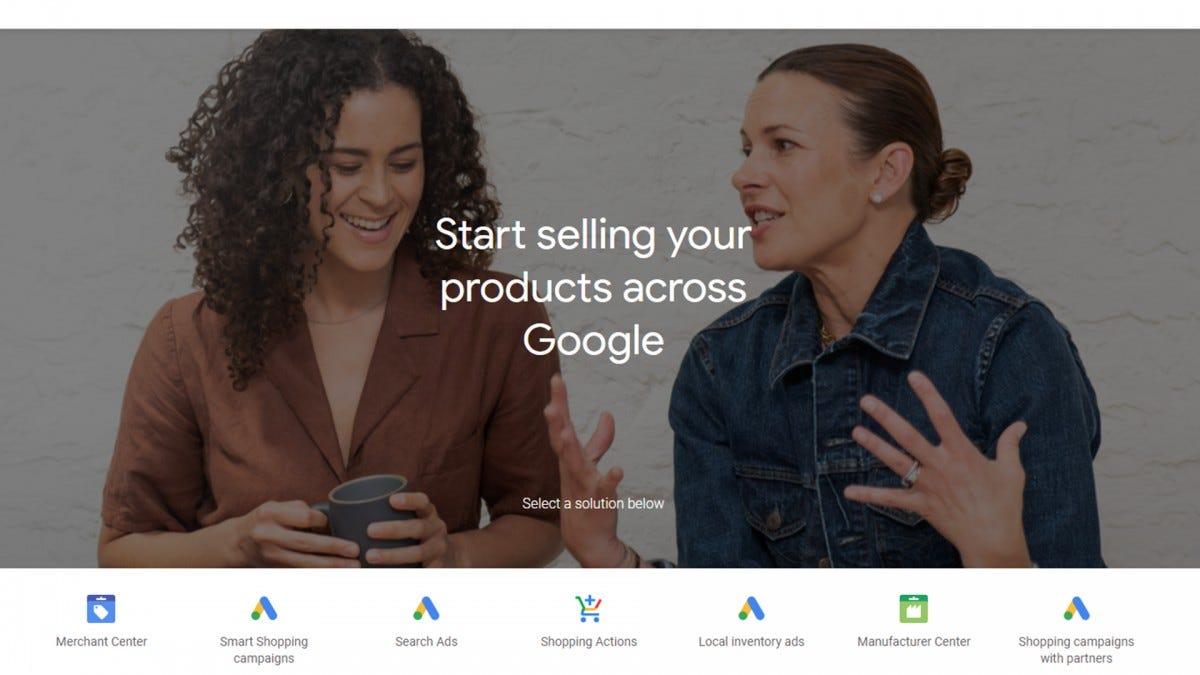 Ảnh chụp màn hình cổng thông tin Google for Retail.