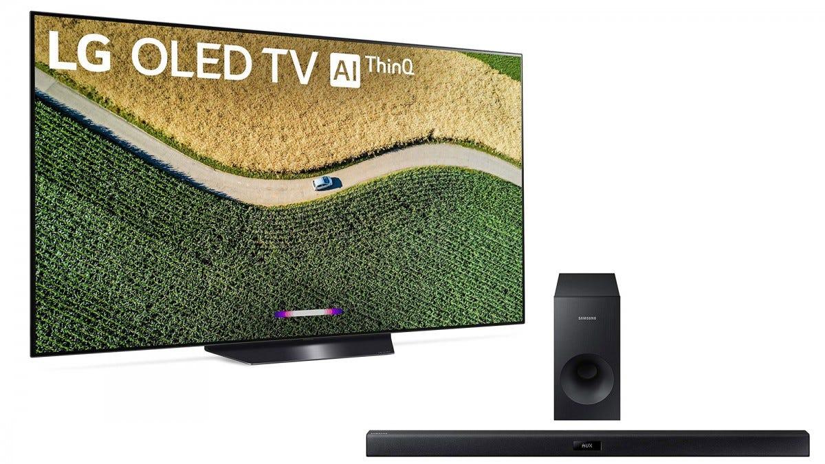 LG OLED TV and Samsung sound bar