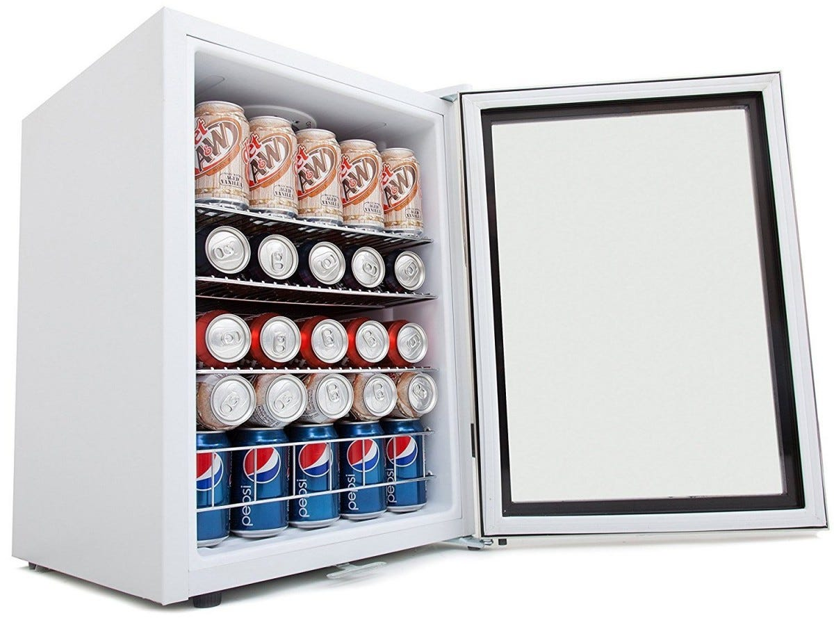 A beverage fridge with specific temperature control is great for following serving suggestions.