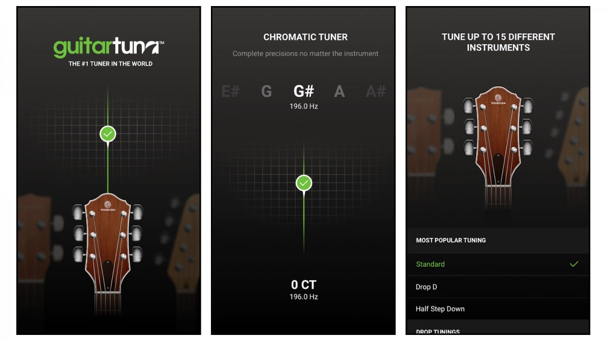 GuitarTuna app screenshots