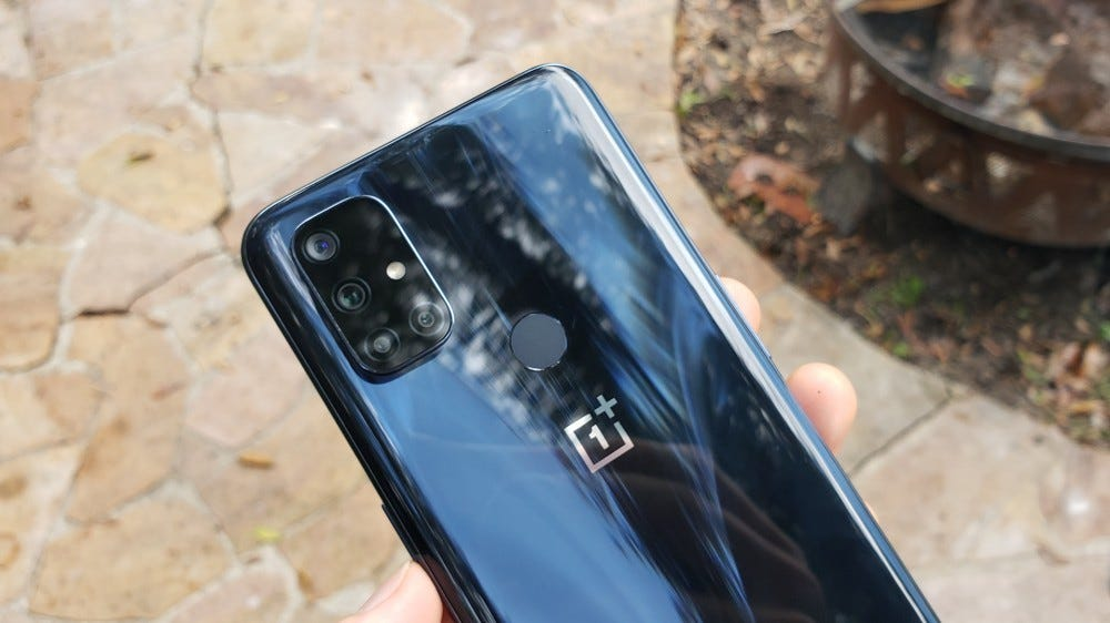 A photo of the OnePlus Nord N10 5G.
