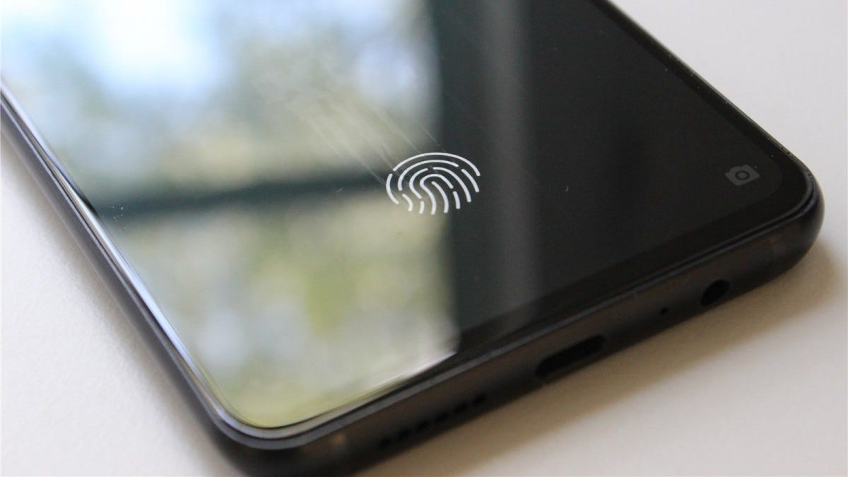 The BOLD N1's in-display fingerprint reader