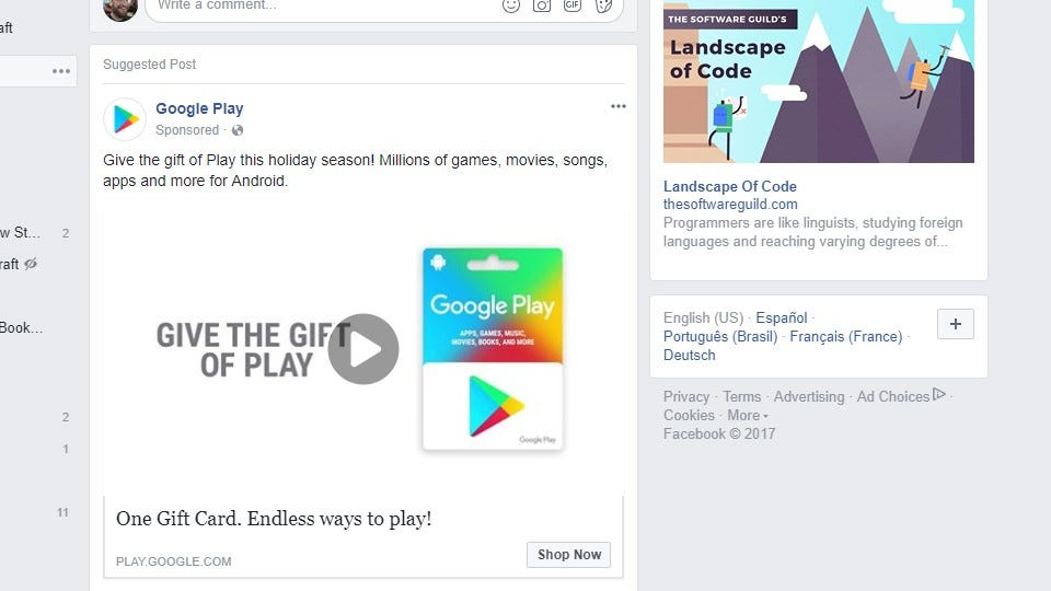 google facebook en espanol