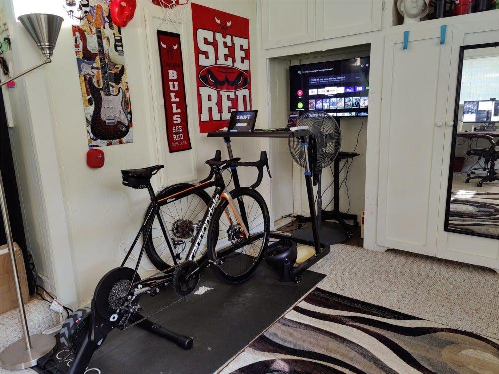 My bike trainer space