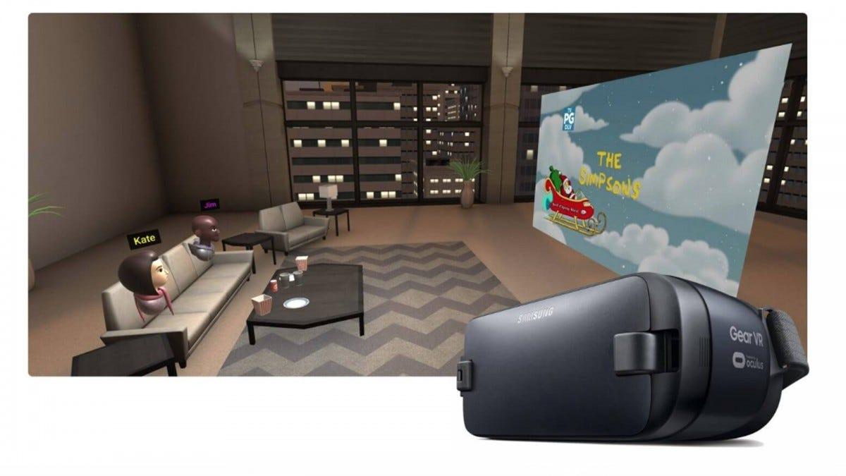 A screenshot of a Plex VR chatroom.