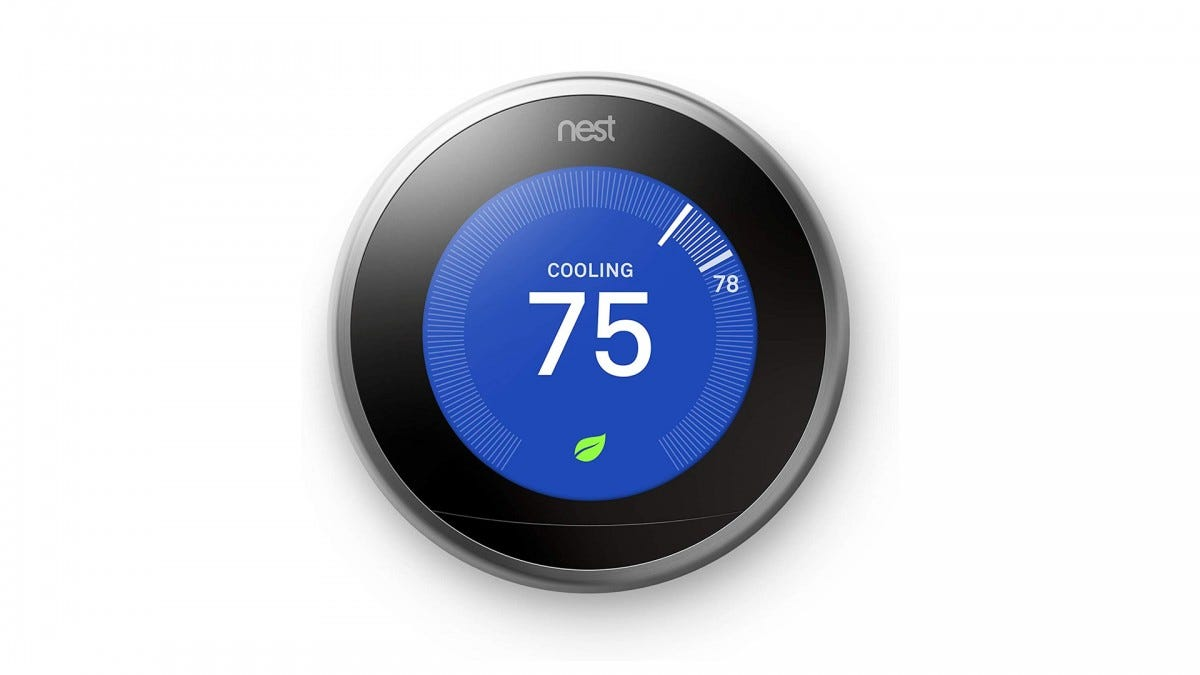 The Google Nest Learning Thermostat.
