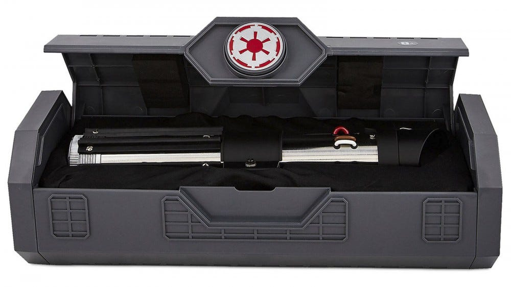 A Darth Vader saber in a carrying case.