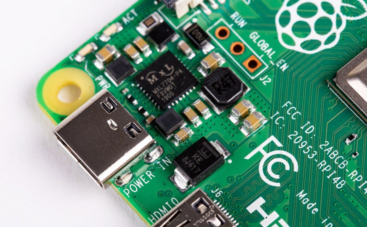 The $35 Raspberry Pi 4 uses USB-C for charging.