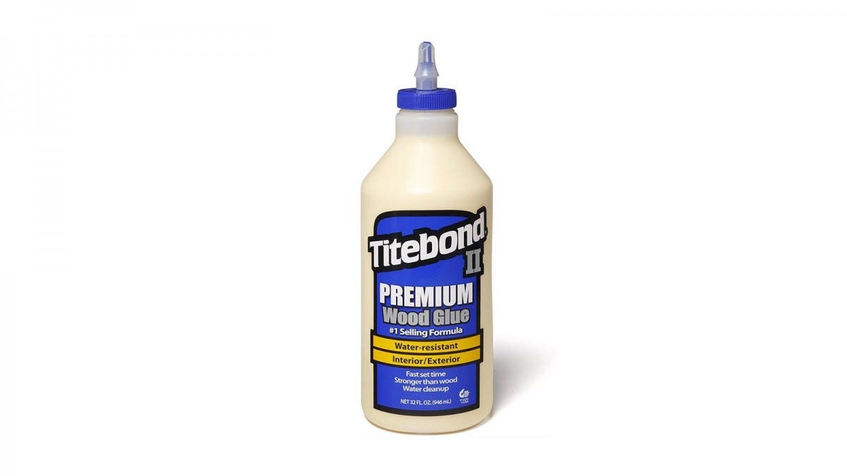 A bottle of Titebond II Wood Glue.