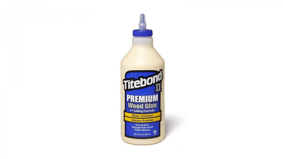 A bottle of Titebond II Wood Glue.
