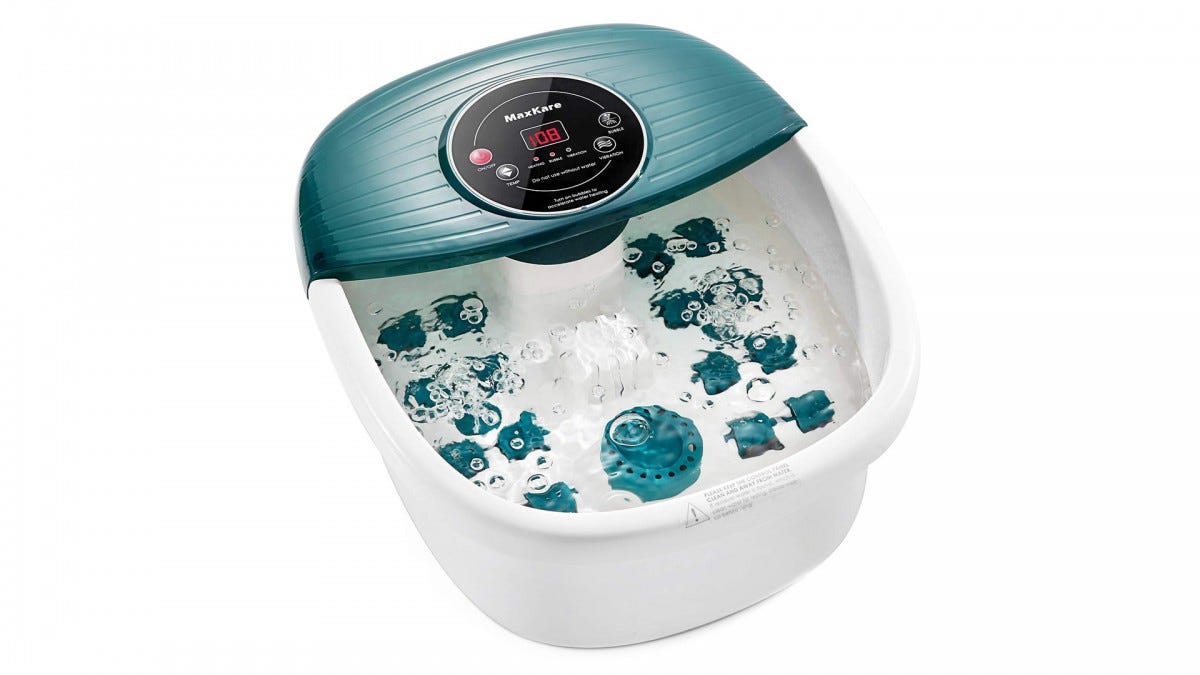 The MaxKare foot spa.