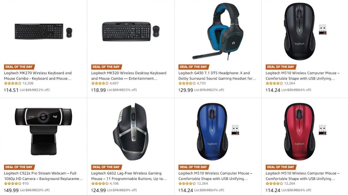 Logitech sale on Amazon