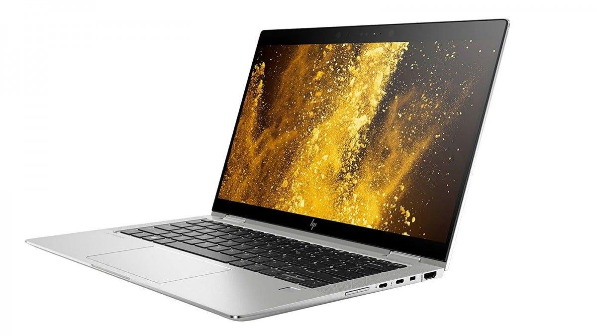 An HP Spectre x360 2 in 1 convertible laptop.
