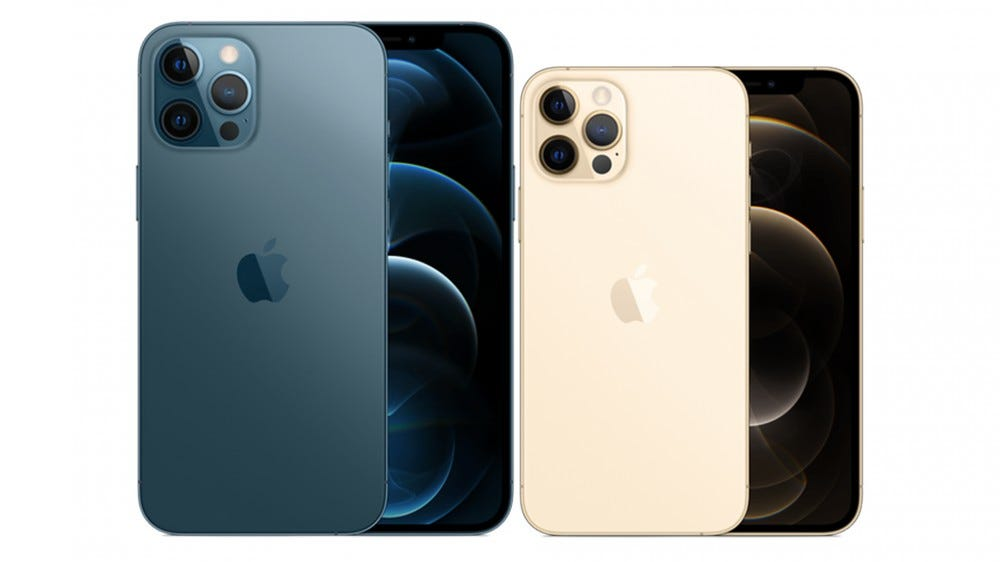 A photo of the iPhone 12 Pro and the iPhone 12 Pro Max.