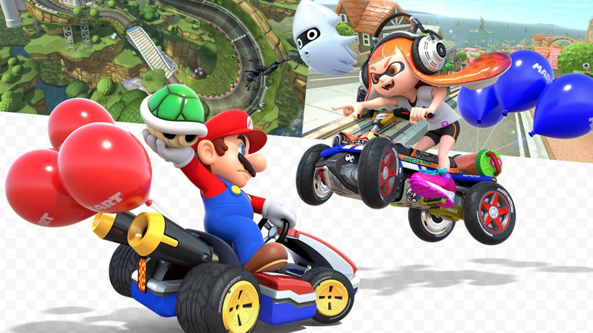 An illustration of Mario Kart.