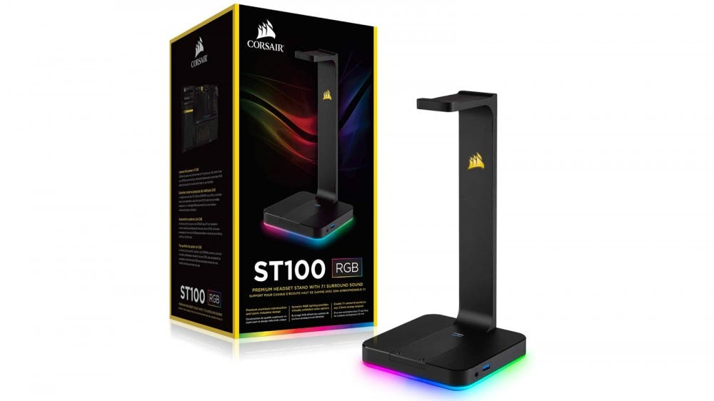 Corsair ST100 RGB Headphone Stand with USB Charging Ports