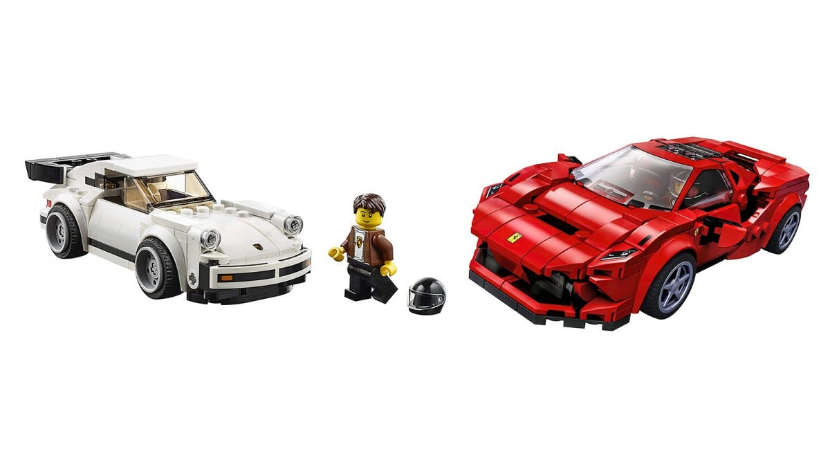LEGO Speed Champions 1974 Porsche 911 Turbo and Ferrari F8 Tributo