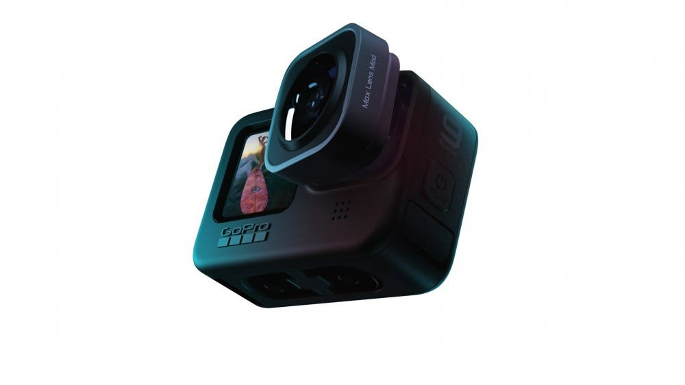 A GoPro with a removeable lens.