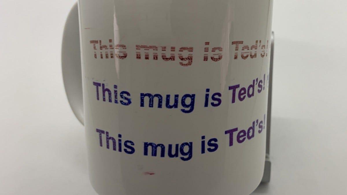 Image of mug with printing.