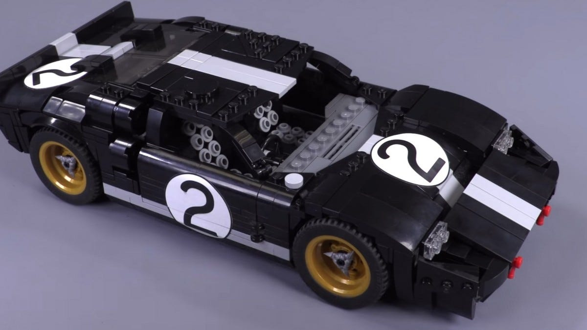 Custom-designed LEGO GT40