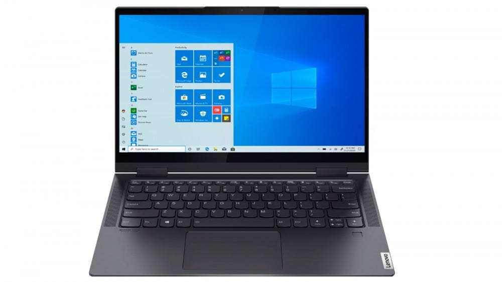 Lenovo Yoga 7i 14-inch 2-in-1 laptop with touchscreen