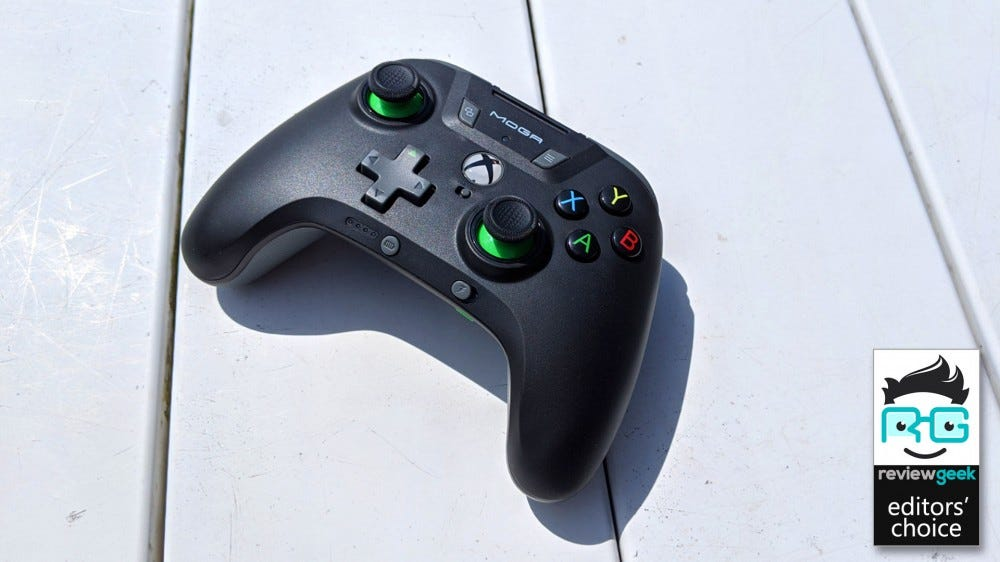 MOGA XP5-X Plus Controller on a white deck