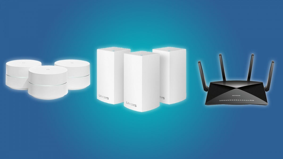 The Google Wi-Fi, the Linksys Velop Mesh Wi-Fi System, and the NETGEAR Nighthawk X10 AD7200 Router