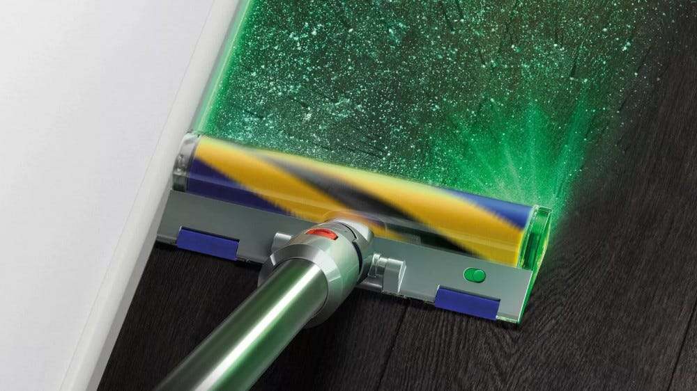 The Dyson V15 Detect vacuum.