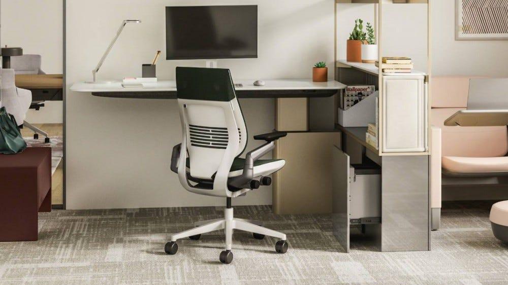 Steelcase Gesture in work office by desk