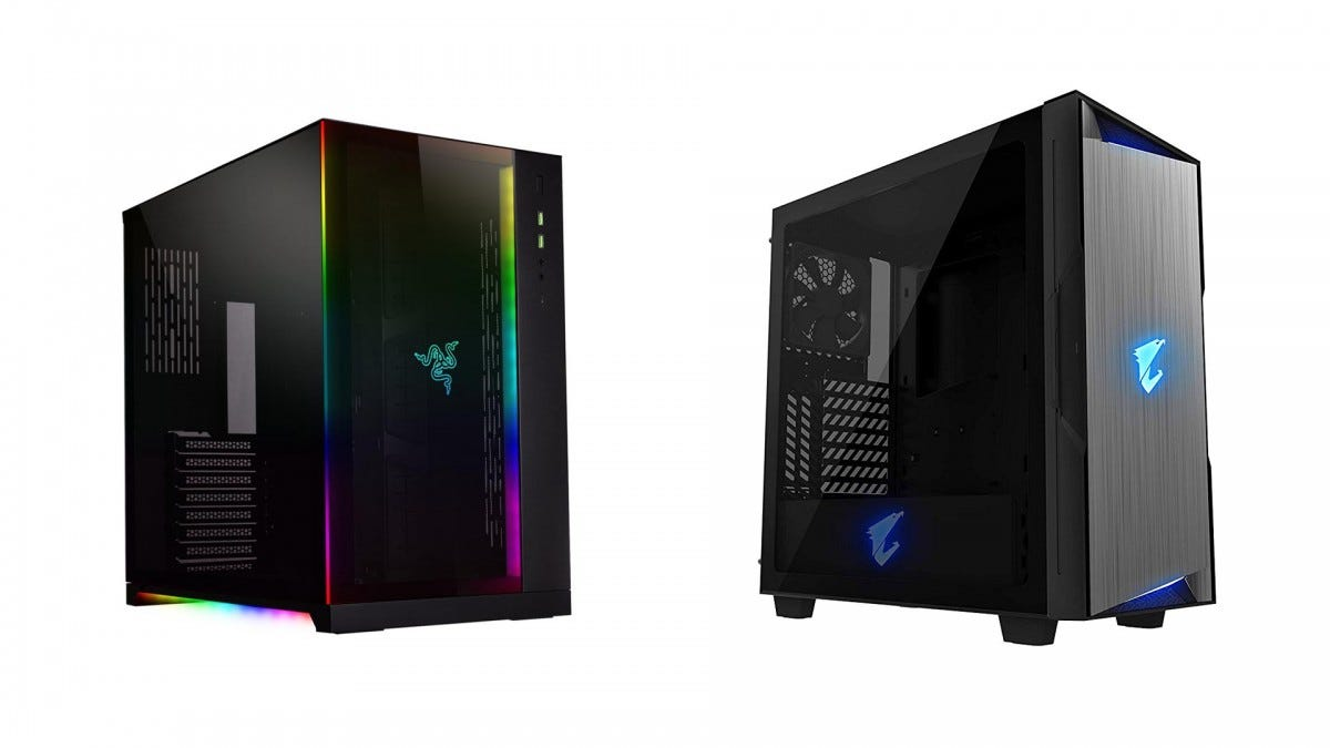 The LIAN LI PC-011 and the AORUS C300.