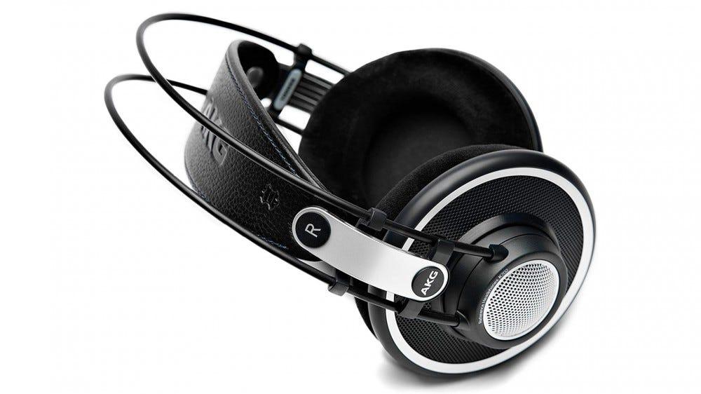 A pair of AKG Pro Audio K702 headphones.