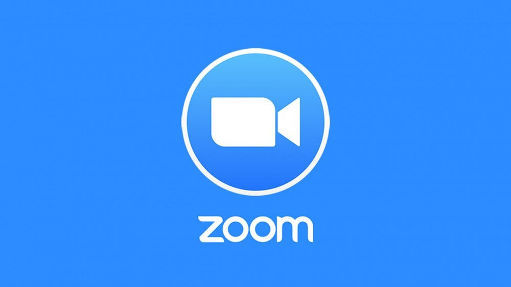 A photo of the Zoom logo.