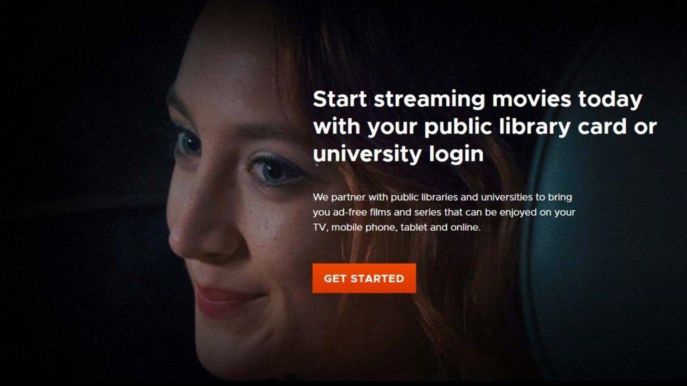 A screenshot of the Kanopy website.