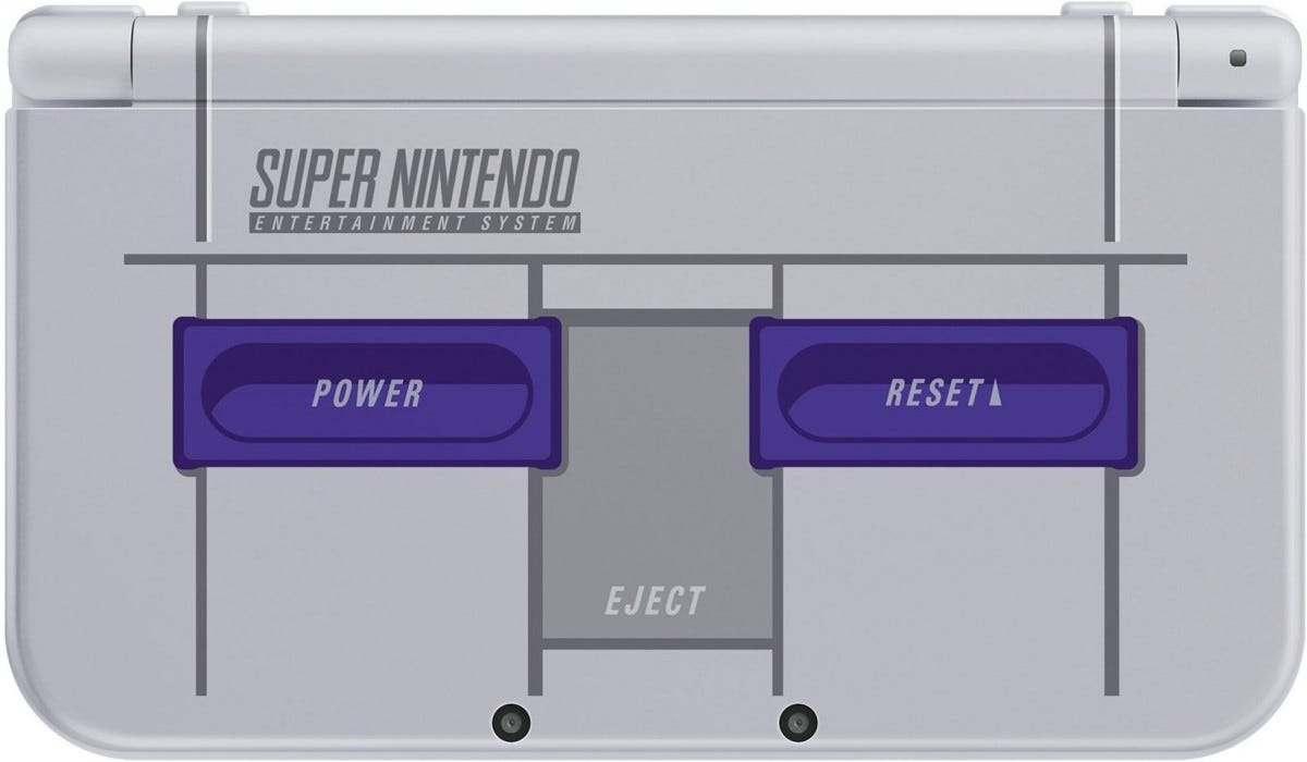 Nintendo Announced a Super NES Edition of the 3DS XL, Complete with
