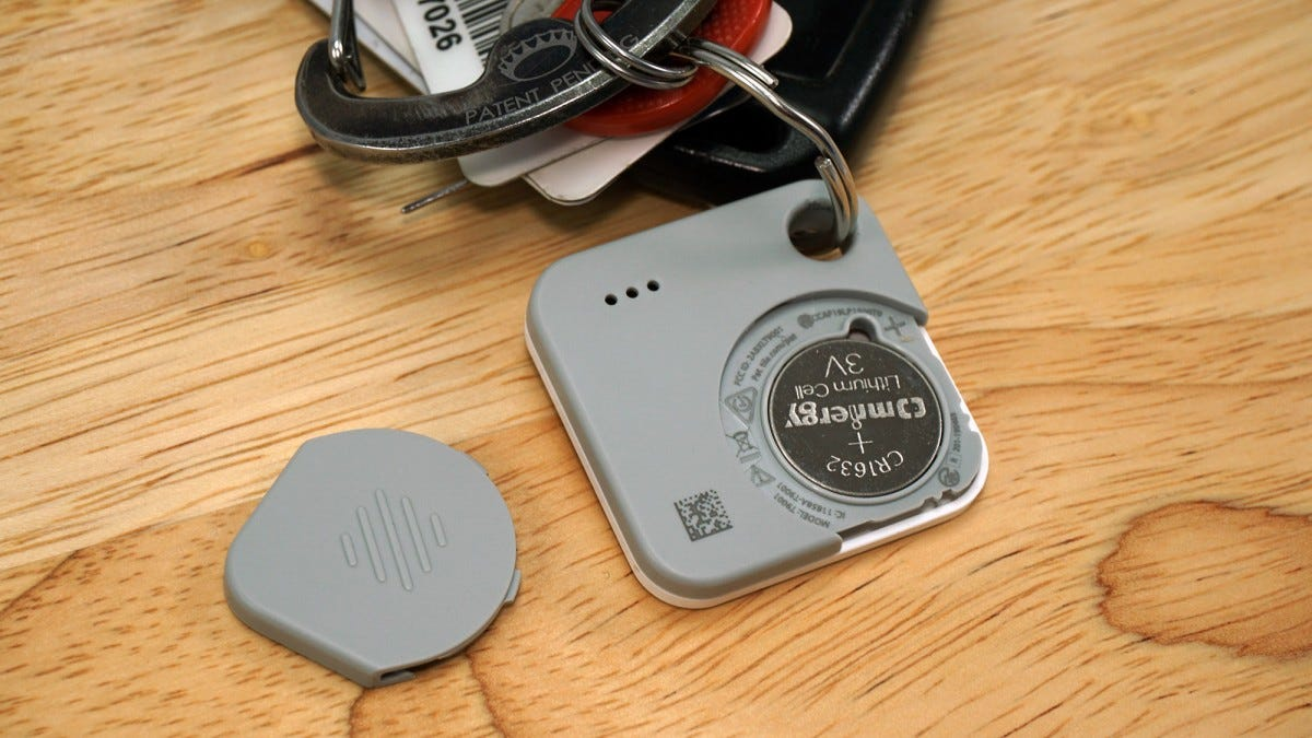 The tile Mate's user-removable battery, exposed.