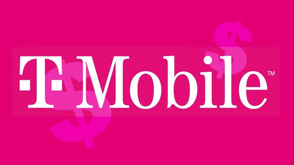 A T-Mobile logó dollárjelekkel.