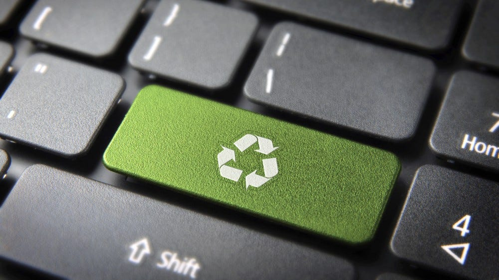 Recycle the key on the keyboard