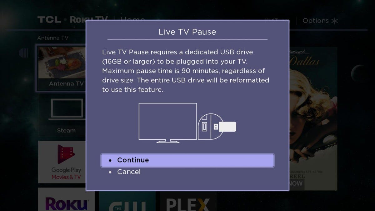 Roku TV screenshot